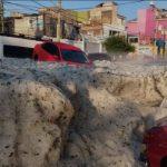 VIDEO Sorprendente !! Granizada cubre de hielo a Guadalajara